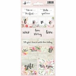 Ozdobne naklejki Love in Bloom 10,5x23 cm - 02 - 02