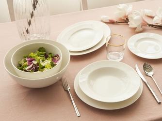 Serwis  zestaw obiadowy na 6 osób porcelana mariapaula nova ecru 23 elementy