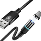 Kabel magnetyczny cafele micro usb 3a 2m quick charge 3.0 black