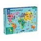 Puzzle z elementami budynków i zwierząt mudpuppy - mapa świata