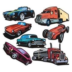 Pojazdy 1 zestaw naklejek