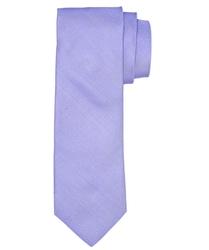 Liliowy jedwabny krawat profuomo