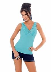 Donna klaudia 12 turkusowa piżama damska