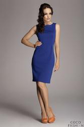 Niebieska Modna Ołówkowa Sukienka Bez Rękawów