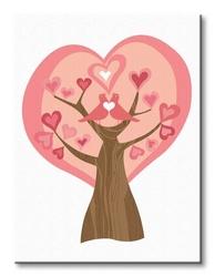 Tree of love - obraz na płótnie
