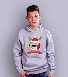 Świąteczulka męska bluza z kapturem jasny melanż xxl