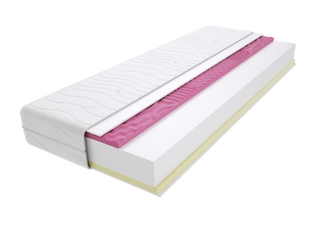 Materac piankowy maroko molet max plus 100x190 cm miękki  średnio twardy 2x visco memory