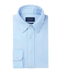 Błękitna koszula męska z dzianiny slim fit m