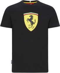 Koszulka scuderia ferrari f1 large shield czarna - czarny