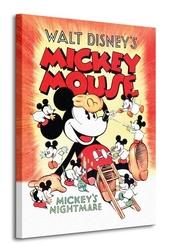 Mickey mouse mickeys nightmare - obraz na płótnie