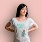 Destyluję myśli-zombien t-shirt damski biały xxl