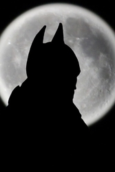 Batman - pełnia księżyca - plakat wymiar do wyboru: 29,7x42 cm