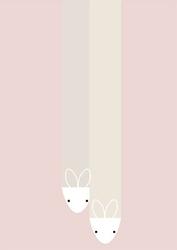 Marcysiowa paputki różowe tło - plakat wymiar do wyboru: 70x100 cm