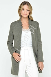 Elegancki płaszcz soho -jasne khaki melanż - only