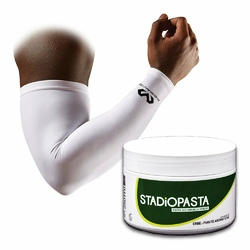 Stadiopasta - maść lecznicza na kontuzje 250 ml + Rękaw na łokieć McDavid Compress. Arm Sleeve 2szt.