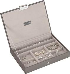 Szkatułka na biżuterię stackers classic szaro-beżowa z pokrywką