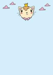 Tablica dla dzieci magnetyczna suchościeralna kotek 314