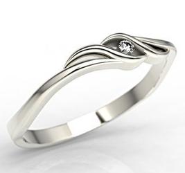 Pierścionek zaręczynowy z białego złota z brylantem lp-9302b - białe złoto z brylantem 0,02 ct