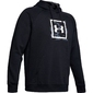 Bluza męska under armour rival fleece printed hoodie - czarny