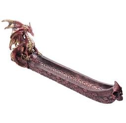 Czerwony smok i magiczna łódź - podstawka na kadzidła