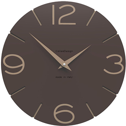 Zegar ścienny Smile CalleaDesign czekoladowy 10-005-69
