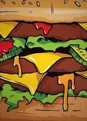 Succulentburger - plakat wymiar do wyboru: 61x91,5 cm