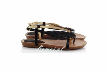 Sandały damskie, etno z piórami buty na lato, modne buty