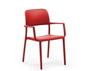 Krzesło z podłokietnikami riva - czerwony