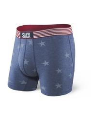 Bokserki męskie saxx vibe boxer modern fit chambray americana - niebieski