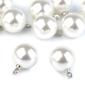 Perełka perła ozdobna zawieszka 11 mm - biała - biały