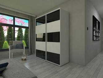 Szafa przesuwna o125 x 245 - barwione szkło