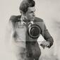 Fototapeta portret elegancki mężczyzna działa