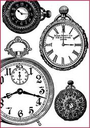 Papier ryżowy Stamperia A4 zegary