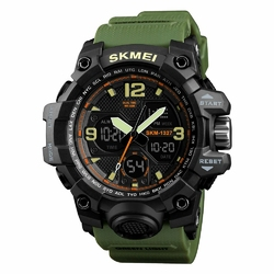 Zegarek męski SKMEI 1327 CHRONOGRAF army green - army green