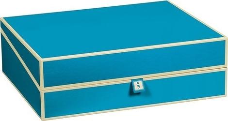 Pudełko na dokumenty die kante turkusowe