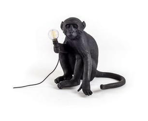 Lampa Monkey czarna stołowa siedząca