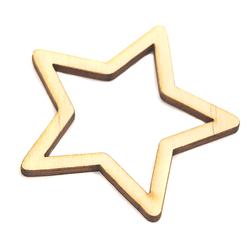 Drewniana gwiazdka 6x6 cm