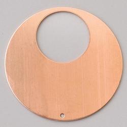 Metalowa zawieszka Efcolor - okrąg z dziurką 48 mm - OZD48