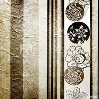 Obraz na płótnie canvas trzyczęściowy tryptyk srebrna retro tapeta