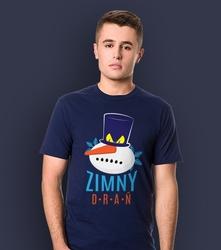 Zimny drań t-shirt męski granatowy s