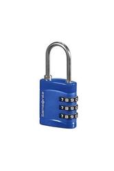 Niebieska kłódka zabezpieczająca na zamek szyfrowy - midnight blue