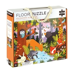 puzzle podłogowe petit collage - las  3+