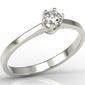 Pierścionek zaręczynowy z białego złota z diamentem ap-1716b - brylant 0,16 ct