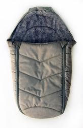 Śpiworek dziecięcy z futerkiem szary - 70 cm, Kutnik