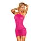 Sukienka prześwitująca z połyskiem - lapdance vip mini dress metallic   sm różowy