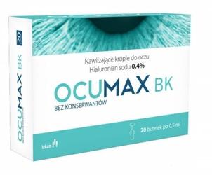 Ocumax bk 0,4 nawilżające krople do oczu x 20 minimsów