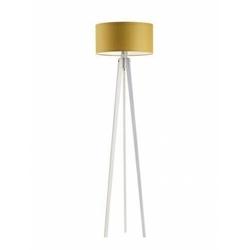 Lampa podłogowa miami abażur musztardowy stelaż biały - żółty
