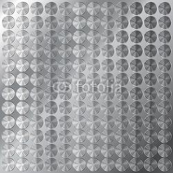 Obraz na płótnie canvas tło wektor lśniący metal z małym wzorem koła