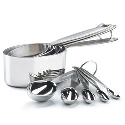 Cuisipro - miarki stalowe kubeczki i łyżki 9 sztuk