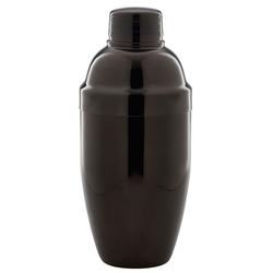 shaker trzyczęściowy czarny metallic ze stali nierdzewnej 0,5 litra